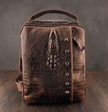 Man leather Messenger Crossbody Biker Satchels Shoulder HangBag Small phone Bag