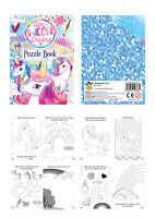 18 Unicorn Puzzle Books - Pinata Toy Loot/Party Bag Fillers Childrens/Kids