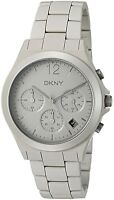 DKNY NY2443 Parsons Grey Dial Grey Ceramic Bracelet Chronograph Women's Watch