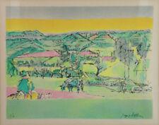 Jacques VILLON (1875-1963) Pastorale lithographie 1960-1968 cubisme