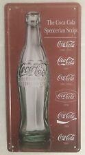 COCA COLA NOVELTY NUMBER PLATE LARGE BOTTLE SPENCERIAN SCRIPT SOFT DRINK SODA