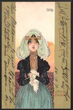 Raphaël Kirchner. Les parfums. Dell'Aquila D.12-1.  1900