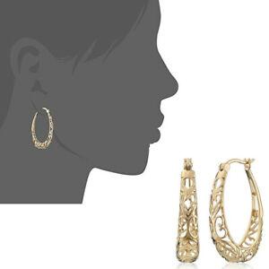 Boho 925 Silver Gold Plated Hollow Dangle Hook Earrings Big Circle Vintage Lot