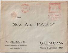 ITALIA 1928 ANNULLO ROSSO GENOVA CODINO SOCIETA ANONIMA SBARCHI ,IMBARCHI