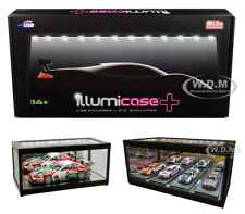 COLLECTIBLE DISPLAY SHOWCASE W/LED LIGHTS & MIRROR BASE 1/18 BY ILLUMIBOX MJ7710