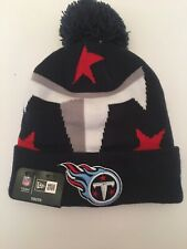 aa1819f8 Youth Tennessee Titan NFL Authentic New Era On Field Sideline Pom Pom  Beanie New