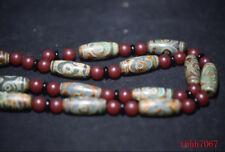 Tibetan prayer worry dzi bead agate 3 eyes necklace dzi tibet