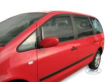 DVW31129 Seat Alhambra mk1 1996-2010 TINTED wind deflectors 4pc set TINTED HEKO