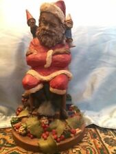 Thomas Clark Figurine Nip, Tuck & Santa 1987 Gnome #57 Cairn Studio Item #5013