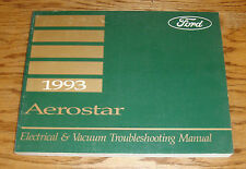 1993 Ford Aerostar Electrical & Vacuum Troubleshooting Manual Wiring Diagram 93