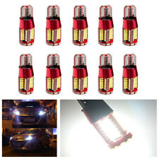 10X T10 4014 57-smd Canbus Lens W5W LED Bulbs Car SUV Signal Light Parking Light