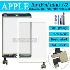 White Screen For iPad mini 1 2 Touch Digitizer Replacement Home Button IC Tools