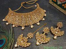 Indian Bollywood Style CZ Kundan Choker Jewlery Set For Women