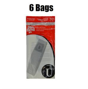 6 Dirt Devil Vacuum Bag Type U Featherlite Platinum Breeze Upright 3-920047-001