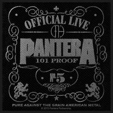 PANTERA - 101% Proof PATCH RICAMATE 10x9cm