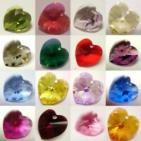 Genuine SWAROVSKI CRYSTAL #6202 HEART CHARM PENDANT BEAD ~ Many Color & Size