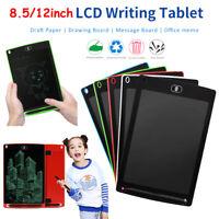 "8.5/12"" LCD Writing Tablet Pad eWriter Handwriting Drawing Graphic Board Notepad"