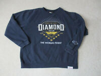 Diamond Supply Company Sweater Adult Large Blue Gold Crewneck Pull Over Mens