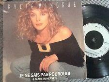 "KYLIE MINOGUE - JE NE SAIS PAS POURQUOI p/s 7"" vinyl single record PWL 21 EXC"
