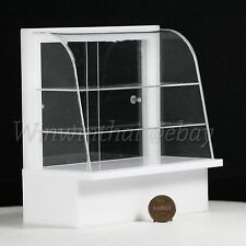 Acrylic Display Bakery Cake Cabinet Counter Shelving Dollhouse Miniature 1:12
