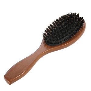Hair Brush Boar Bristle Comb Massage Anti Static Soft Wooden Handle Hairbrush