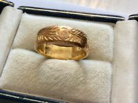 Superb Very Heavy Antique Handmade Solid 22 Carat Gold Keeper Ring 22CT Nice