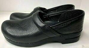 Dansko Size 43 Professional 506020202 Black Leather Clogs US Women's 12.5 -13