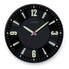 "NEW 16.5""  CITIZEN GALLERY BLACK CIRCULAR WALL CLOCK CC2012"