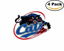 Baseball Fort Worth Cats Logo 4 Stickers 4X4 Inches Sticker Decal