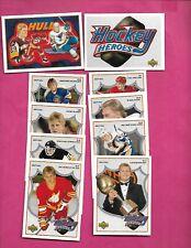 1991-92 UPD BRETT HULL HOCKEY HEROES INSERT 10 CARD SET   (INV# C4454)