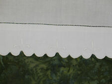 Lovely Vintage Hand Embroidered Madeira Pillowcase~Fluer de Lis-Marghab?