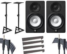 Yamaha HS5 Studio Monitor Pair + Stands + Auralex Mopads + Mogami Cables