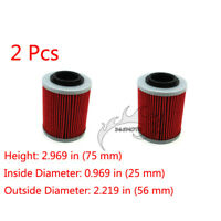2x Oil Filter For CAN-AM Outlander Max 650 500 400 450 800 Renegade 850 570 1000