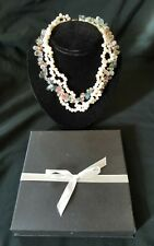 CHUNKY GLASS & FAUX PEARL NECKLACE