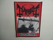 MAYHEM DEATHCRUSH SUBLIMATED BACK PATCH