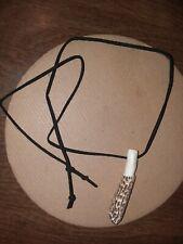 morel mushroom carvings:hand made decoy;MOLLY MOOCHERS:necklace;hunting;pendants