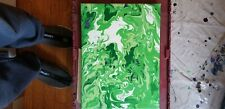 New ListingGreen Dream - acrylic painting 12x16 $60. no brush ever used.
