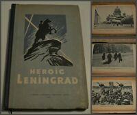 EXT RR! 1945 Heroic LENINGRAD BLOCKADE WWII in ENGLISH many Rare photos USSR