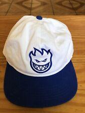 Spitfire Wheels Baseball Cap Snapback Hat White/Blue EUC Rare