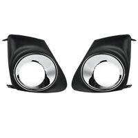 Car Front Fog Light Lamp Cover Grille for Toyota Corolla 2011-2013 S6Q6