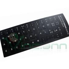 Lettere adesive tastiera italiana nero tasti keyboard adesivo  stickers adesivi