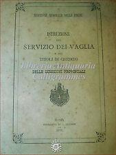 STORIA POSTALE ECONOMIA - Servizio dei VAGLIA e TITOLI DI CREDITO 1884 Cecchini