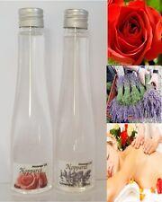 GIFT NEW SET MASSAGE OIL rose lavender FLOWERS SPA BODY SKIN AROMA @ scent 60 ml