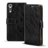 Handy Tasche Sony Xperia XZ Flip Cover Case Schutz Hülle Wallet Premium Etui