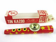 METAL KAZOO Musical Instrument Blue or Red Tin HUM A ZOO New in Box