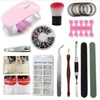 Manicure Set 36W LED Lamp Gel Nail Polish Quick Building Extensions Kit*
