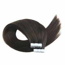 "18"" Remy Human Hair Tape in Extensions Darkest Brown Color #2 20pcs/50g"