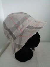 bae09d67318fc BNWT Ladies Barbour Grey Trench Summer Dress Tartan Linen Cotton Bucket Hat  - M