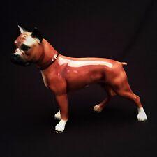 Vintage Gort Bone China Boxer Figurine, Style #101-D