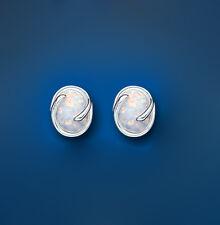 Opale Orecchini in argento bottone argento sterling BORCHIE SOLITARIO